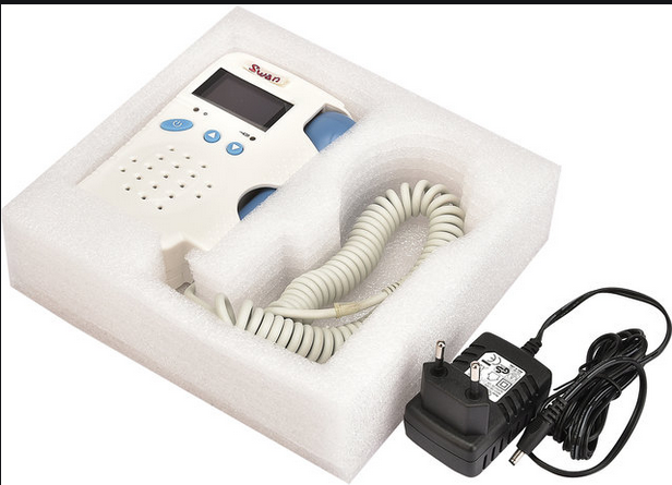 The fetal doppler is very practical and easy to use