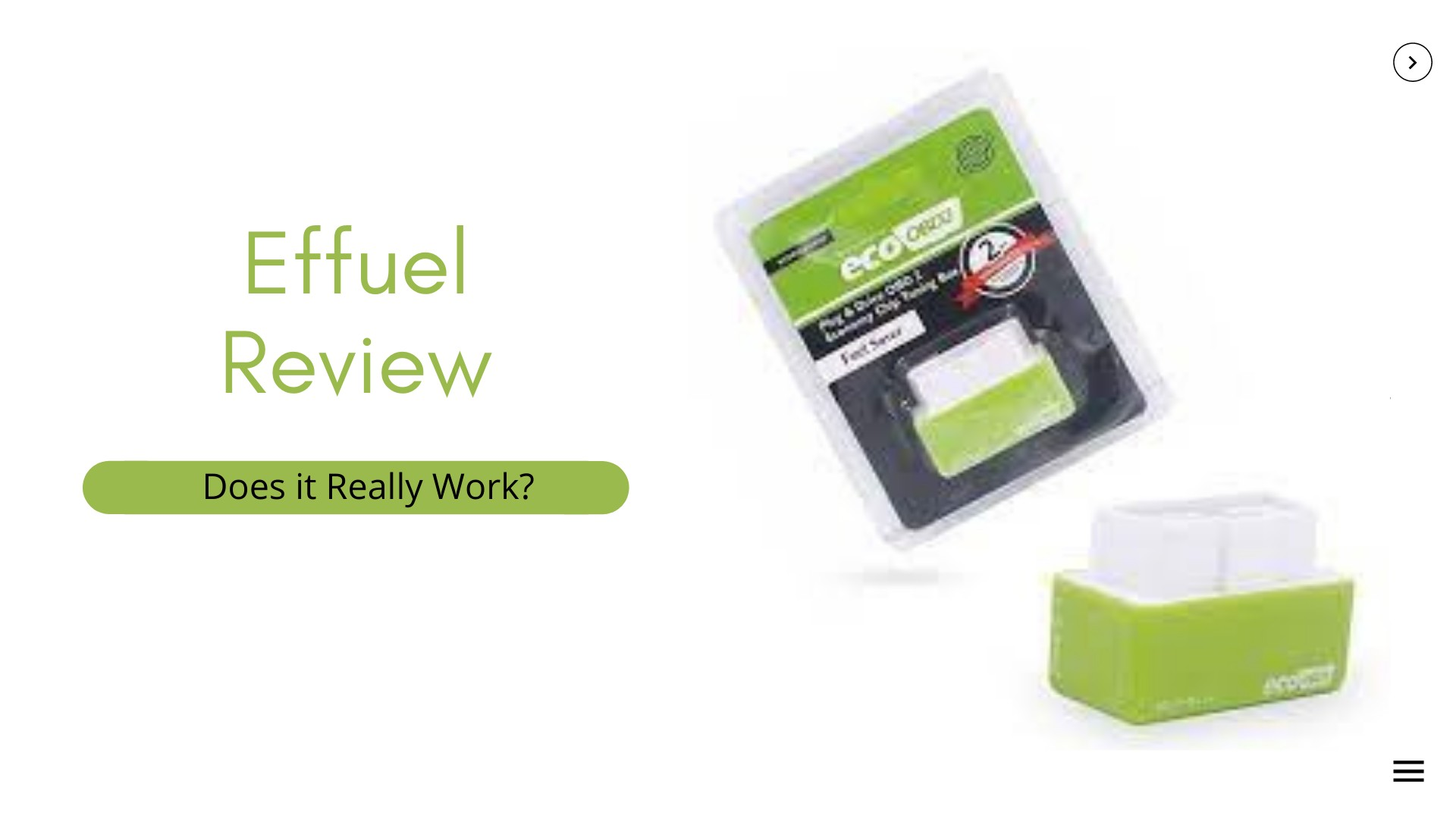 Effuel Customer   Reviews; What does it do?
